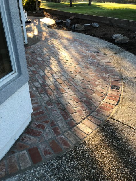this is an image of brick pavers in walnut creek