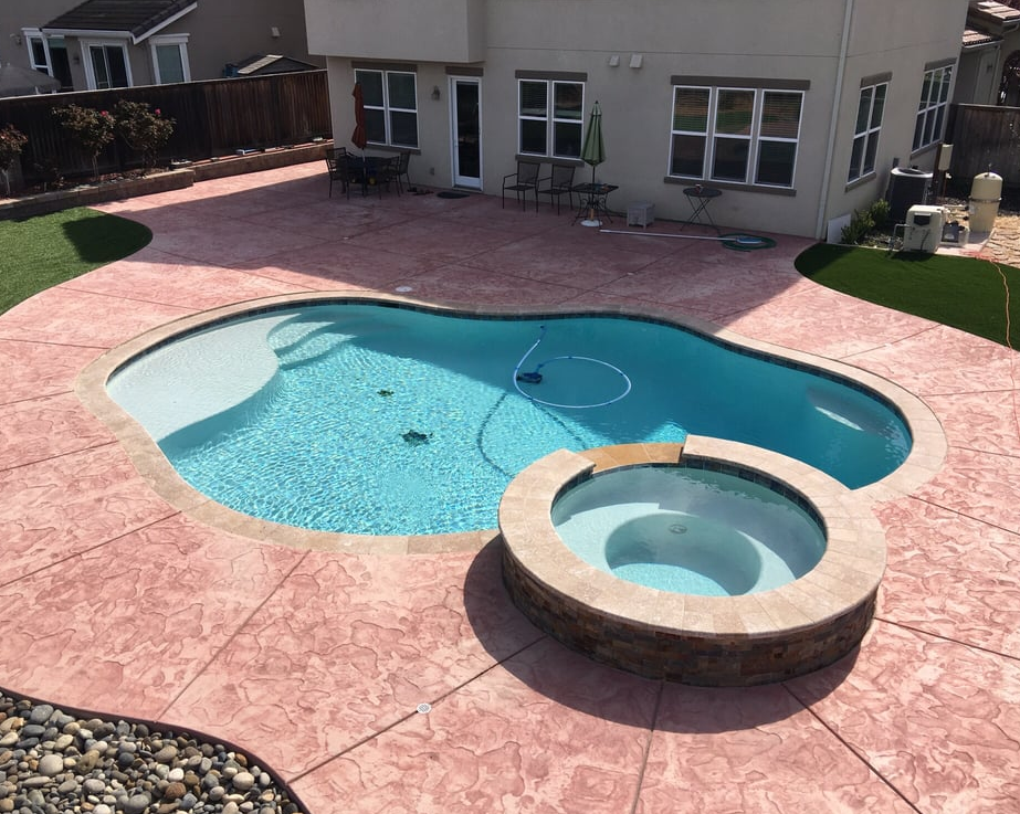 this is an image of pool deck in Walnut Creek