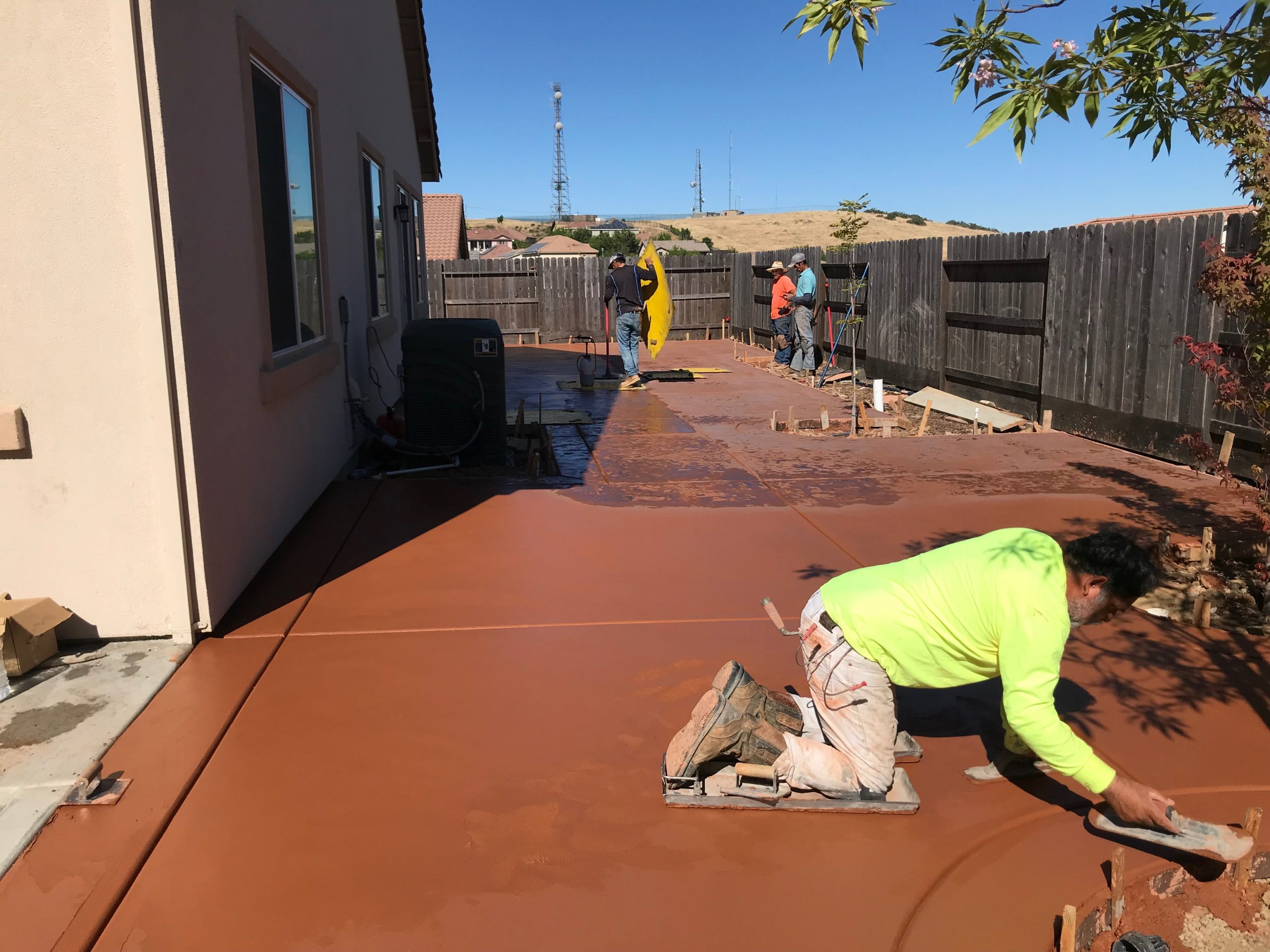 An image of stained concrete contractor in Walnut Creek.