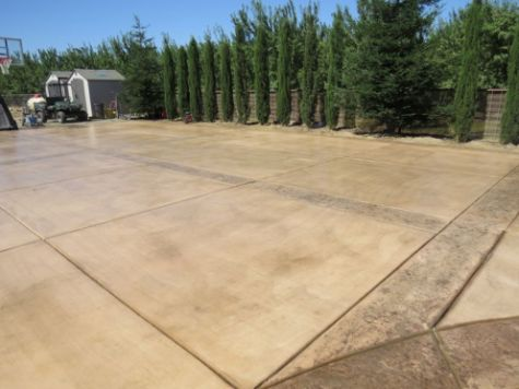 An image of finished Colored Concrete in Walnut Creek, CA.